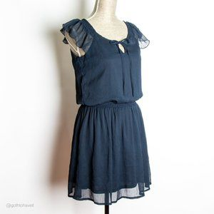 Olive & Oak Dark Blue Sheer Dress